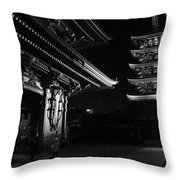 The Shadow Of The Temple Throw Pillow