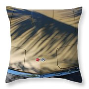 The Shadow Vette Throw Pillow
