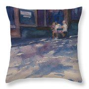 The Shady Side Of The Street Throw Pillow