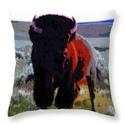 The Shamans Buffalo Throw Pillow