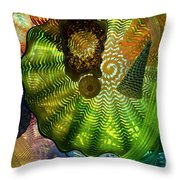 The Shape Of Color 4 Throw Pillow