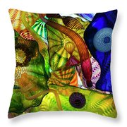 The Shape Of Color Throw Pillow