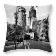 The Shard Above Guy's Throw Pillow