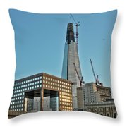 The Shard London Bridge Throw Pillow