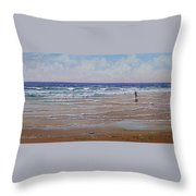 The Shell Collector Throw Pillow