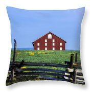 The Sherfy Farm At Gettysburg Throw Pillow