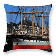 The Ship Balclutha Throw Pillow
