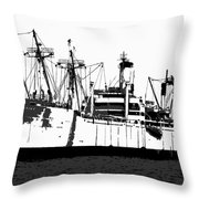 The Ship Throw Pillow
