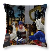 The Shoe Throwers Throw Pillow