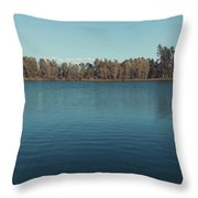 The Shore Of Flathead River Throw Pillow