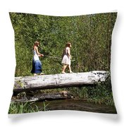 The Short Cut Throw Pillow