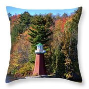The Shoul Point Lighthouse Throw Pillow