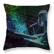 The Show That Never Ends... Throw Pillow by Kenneth Armand Johnson