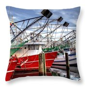 The Shrimpers Salute Throw Pillow