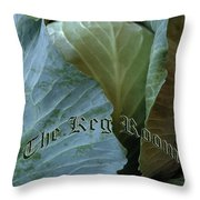 The Shy Cabbage The Keg Room Old English Hunter Green Throw Pillow