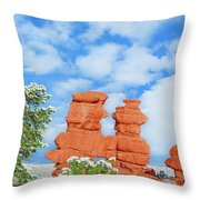 The Siamese Twins Joined At The Chest   Throw Pillow