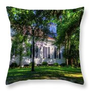 The Side Of A Small Church Throw Pillow