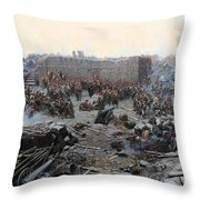 The Siege Of Sevastopol Throw Pillow