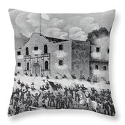 The Siege Of The Alamo Throw Pillow