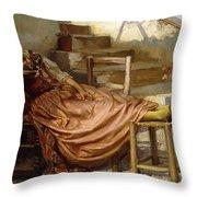 The Siesta, 1909 Throw Pillow