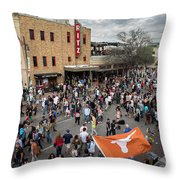 The Sights And Sounds Of Sxsw Are Enormous From 6th Street As Thousands Of Revelers Fill The Streets Throw Pillow