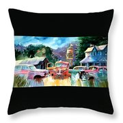 The Sign Of The Fish On The Watertower Throw Pillow