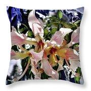 The Silk Flowers Throw Pillow