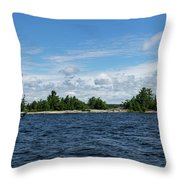 The Silver Bullet - Little Silver Boat Speeding Along Throw Pillow