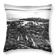 The Silver City Throw Pillow