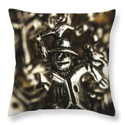 The Silver Strawman Throw Pillow