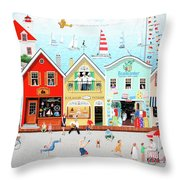 The Singing Bakers Throw Pillow