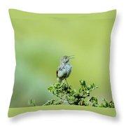 The Singing Birdie  Throw Pillow