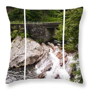 The Sinks Smoky Mountains Triptych Throw Pillow