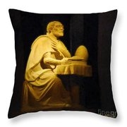 The Sinner Who Became A Saint Throw Pillow