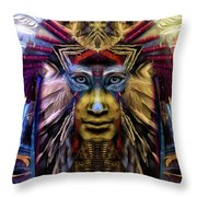 The Sioux Spirit - The Plumed Lion Throw Pillow