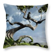 The Sitting Tree Throw Pillow