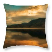 The Skaha Sunrise Throw Pillow
