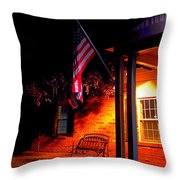 The Skies Are Dark Throw Pillow by Guy Ricketts
