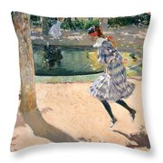The Skipping Rope Throw Pillow