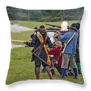 The Skirmish Begins Throw Pillow