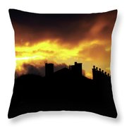 The Sky Is On Fire Sunrise Throw Pillow