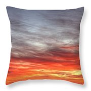 The Sky Is Smoking Hot In Widescape Throw Pillow