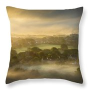 The Sky Kissed The Land Throw Pillow