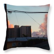 The Sky Over My Apartment Throw Pillow