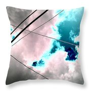 the sky...She came to me  Throw Pillow
