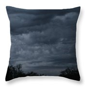 The Skys Watercolor Wash Throw Pillow