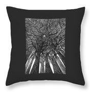 The Skyscrapers Of The Forest Throw Pillow