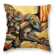 The Sleeping Muse Throw Pillow