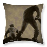 The Slide - Kick Up Some Dust Throw Pillow by Bill Cannon