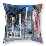 The Slough Of South Palm Canyon Drive Throw Pillow